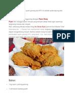 Membuat Ayam Krispi