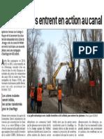 Le Progrès - Les bûcherons entrent en action au canal