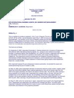 1. NFD International Manning Agency vs. Illescas 1
