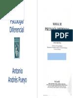 Manual de Psicologia Diferencial - Antonio Puello