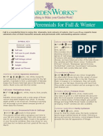 Annuals & Perennials for Fall and Winter Selection Guide