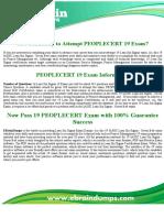 PEOPLECERT 19 Exam Questions | PEOPLECERT 19 Dumps PDF