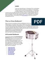 02. Drum Rudiments