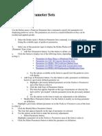 Pushover Parameter Sets