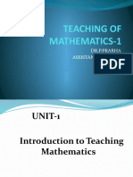 Teaching of Mathematics Paper-1