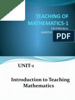 Teaching of Mathematics Paper-1