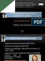 A Contribuição Da Crítica Feminista a Ciencia 2017