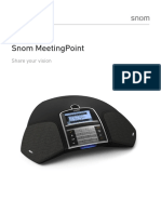Snom Meetingpoint Conference Phone Datasheet