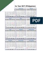 Calendar for Year 2017.docx