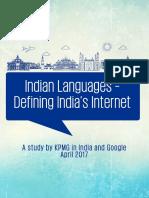 Indian Languages Defining Indias Internet