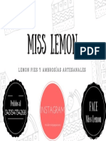 Miss Lemon Tarjetas Personales