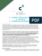 Ybette's Creative Community Grant Application Fall 2016