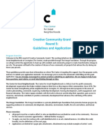 Chako San's Creative Community Grant Application Fall 2016