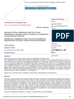 Atención Plena_ Validación Del Five Facet Mindfulness Questionnaire (FFMQ) en Estudiantes Universitarios Chilenos