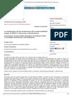 La Evaluación de Los Trastornos de La Personalidad Según El DSM-5_ Recursos y Limitaciones