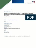 RelaySimTest AppNote Power Swing Blocking Test 2015 ENU