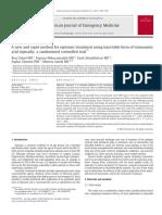 Tranexamic Acid as Treatment Epistaxis