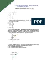 17 - 18 - Exercícios - Zero Função e Obtenção Pelo Grafico