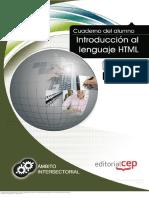 Cuaderno Del Alumno. Introducción Al Lenguaje HTML. Formación Para El Empleo