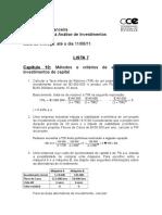 Matemática Financeira - Gabarito Da Lista 7