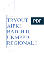 To AIPKI Regional 1 Batch II 15 April 2017