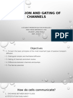 Diffusion and Gating of Channels Physiology