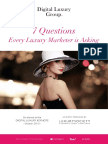 7 Questions All Luxury Brands Marketers Are Asking