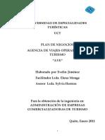 PLAN+DE+NEGOCIOS+AGENCIA+DE+VIAJES+OPERADOR+DE+TURISMO+AVE