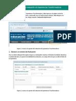 Guía Para Registrar La Evaluación de Experiencias Transformadoras 2017