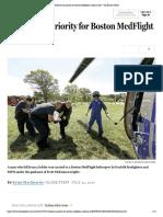 Patients the Priority for Boston Medflight Medical Staff - The Boston Globe