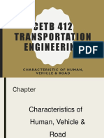CETB 412 - Characteristic of Human, Vehicle Road