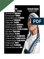 Mensaje Madre Teresa de Calcuta 2