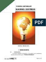 Memoria de Calculo Electrico Economia