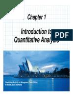 Chapter 01 quantitative techniques for business