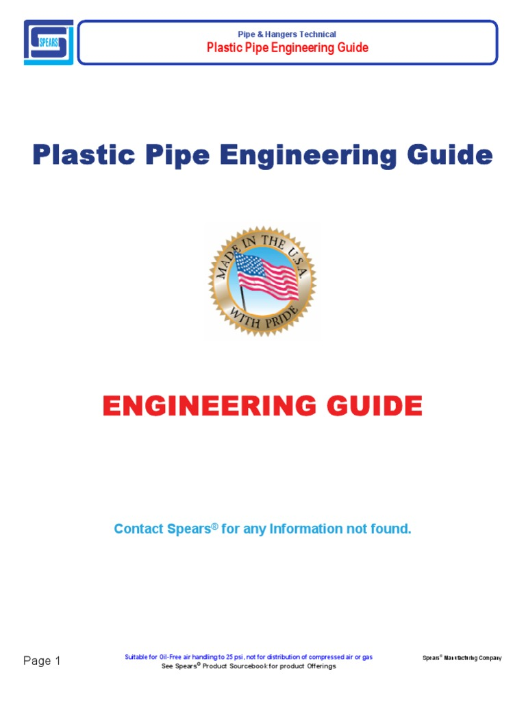 Plastic Pipe Engineering Guide | Polyvinyl Chloride | Pipe (Fluid