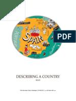 Example of Describing a Country 2017