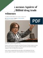 De Lima Accuses Aguirre of Coercing Bilibid Drug Trade Witnesses