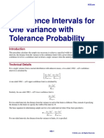 Confidence Intervals for One Variance With Tolerance Probability