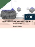 Diseño Del Abastecimiento Del Agua Con Python 2.7 x