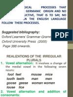 Irregular Nouns and Verbs