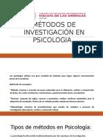 Metodos de Investigacion en Psicologia