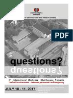 Questions 2017 Programme