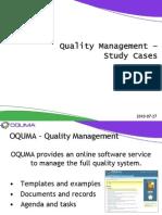 Quality Management - Study Cases