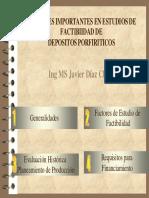 Factores en Estudios de Factibilidad Mineros