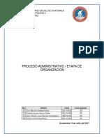 Proceso Administrativo - Etapa de Organización