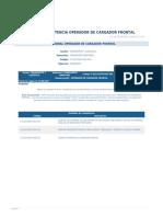 Perfil Competencia Operador de Cargador Frontal