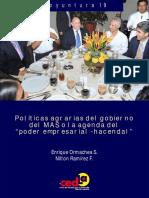 """Políticas agrarias del gobierno del MAS o la agenda del """"poder empresarial-hacendal"""""""