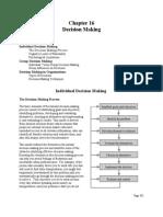 Organizational Effectiveness (Chapter 16 Decision Making) - David Cherrington