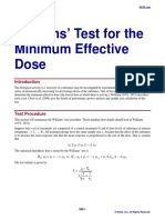 Williams' Test for the Minimum Effective Dose