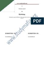 Civil Hydrology Report
